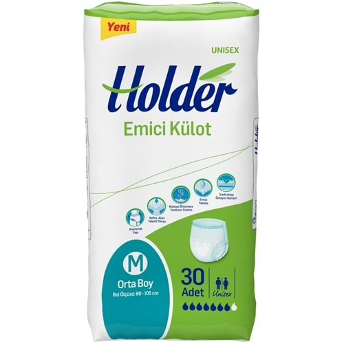 Holder Emici Külot Hasta Bezi Medium Orta (30 Adet)